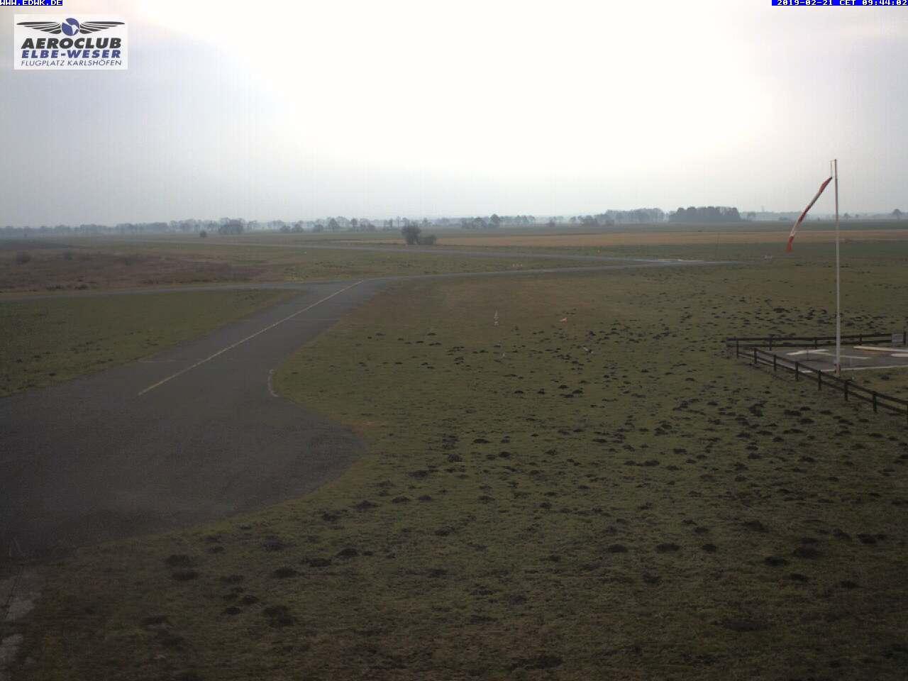Webcam Flugplatz Karlshöfen (EDWK)